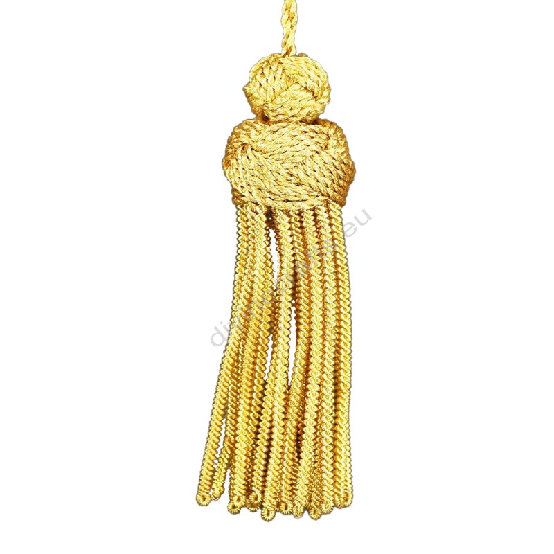 Rayon Chainette Gold Turk knot Tassels