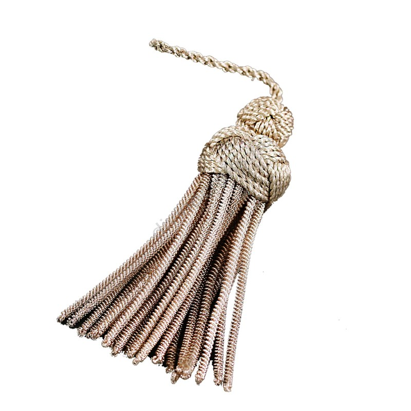 Metallic Glass Beaded Tassel