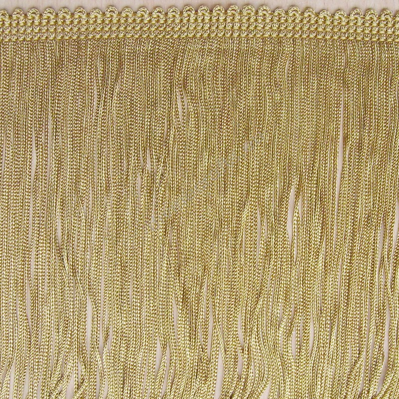 Chainette Rayon Old Gold Bullion Fringe single strand