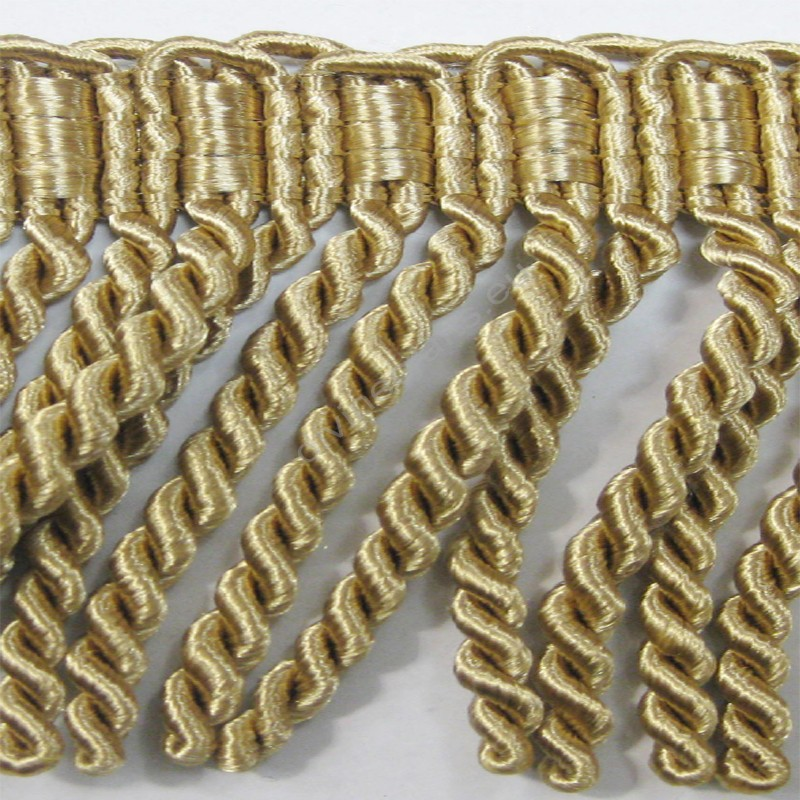 Rayon Chainette Light Gold Bullion Fringe