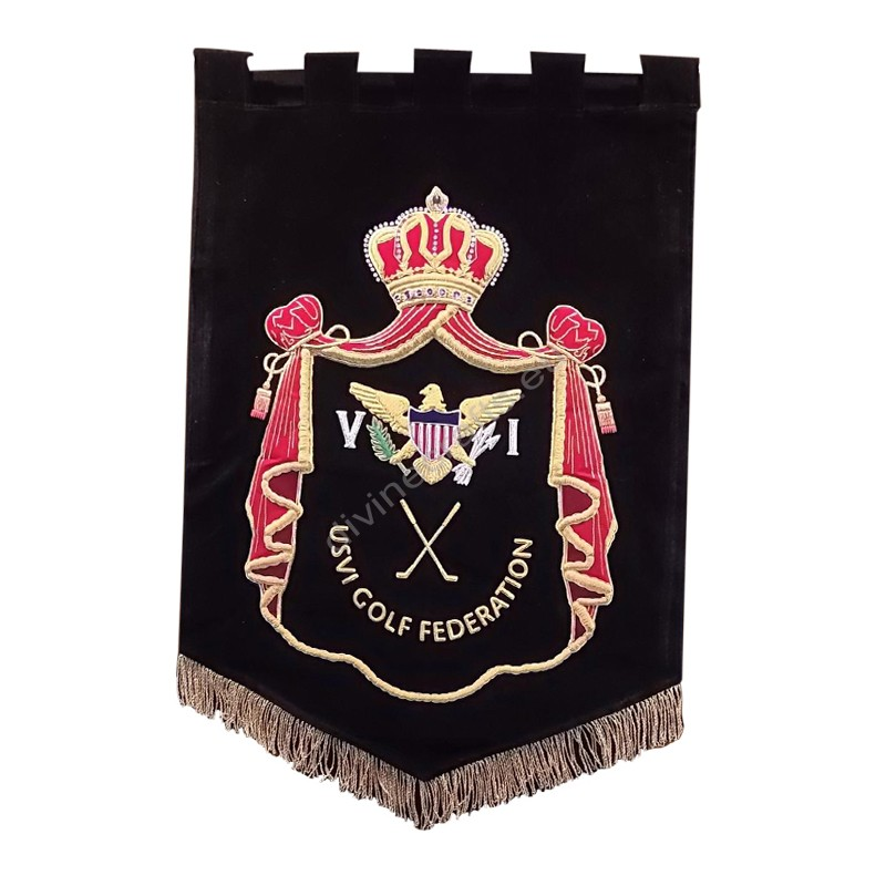 Embroidered Club House Banner