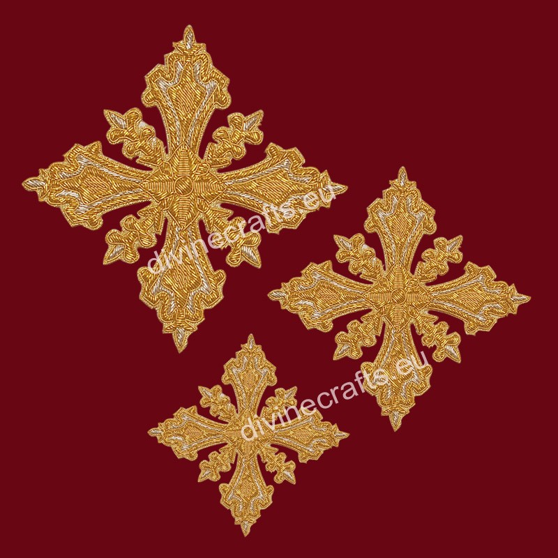Hand Embroidered Crosses For Orthodox Vestments