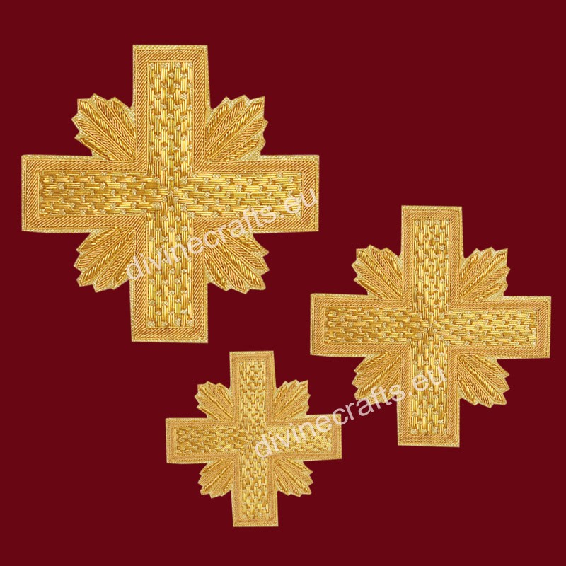 Hand Made Embroidered Cross Set