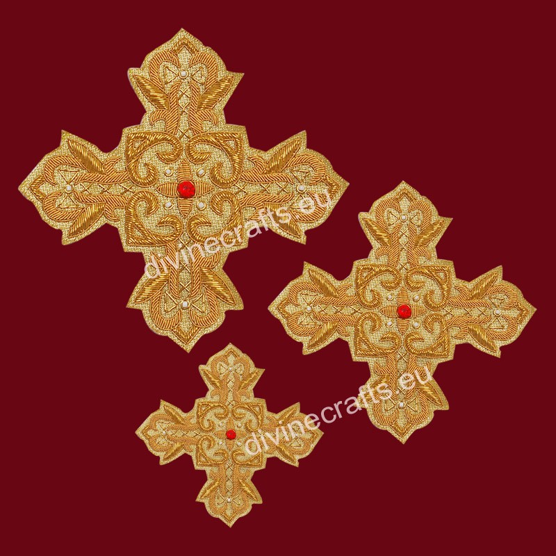 Latest Design of Tirtiri Gold Cross Set