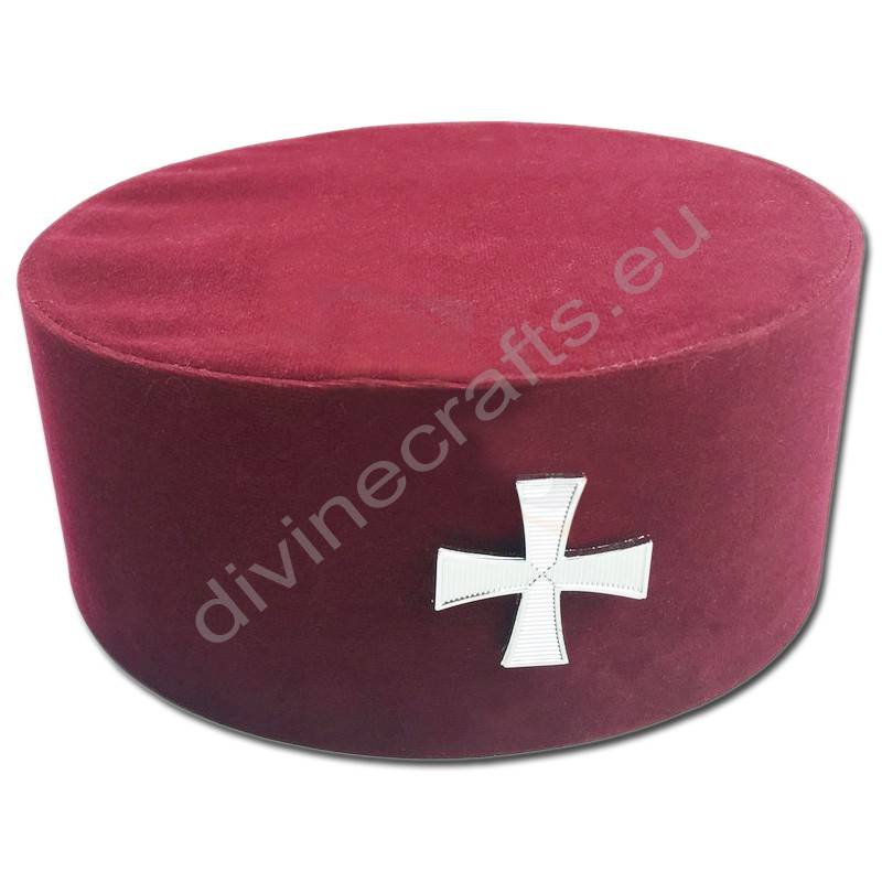 Masonic Knight Templar KT Cap/Hat with Red Cross