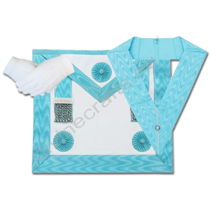 Masonic Regalia Craft Master Masons Apron, Officer Collar and Glove