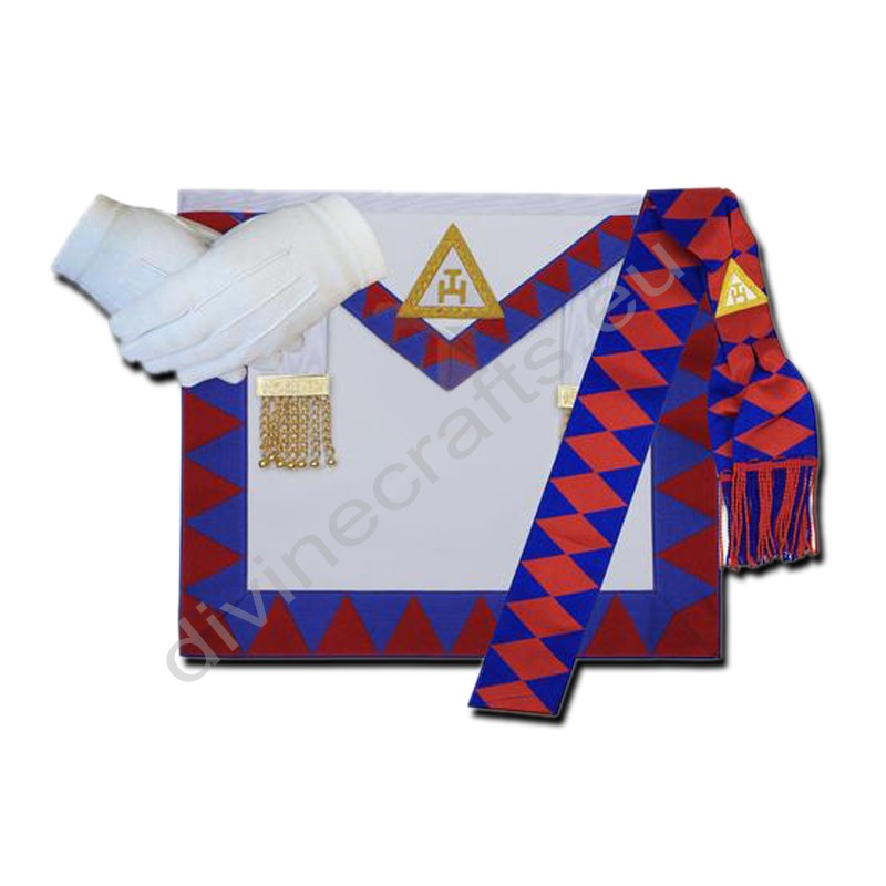 Masonic Regalia Royal Arch Companion Apron,Sash,Gloves Set