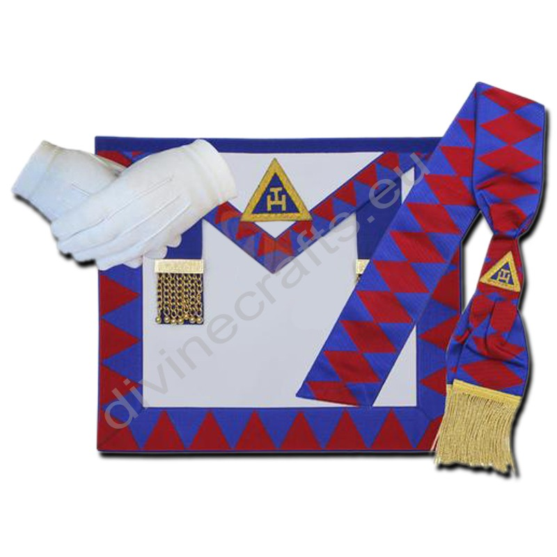 Masonic Regalia Royal Arch Provincial Apron,Sash,Gloves Set