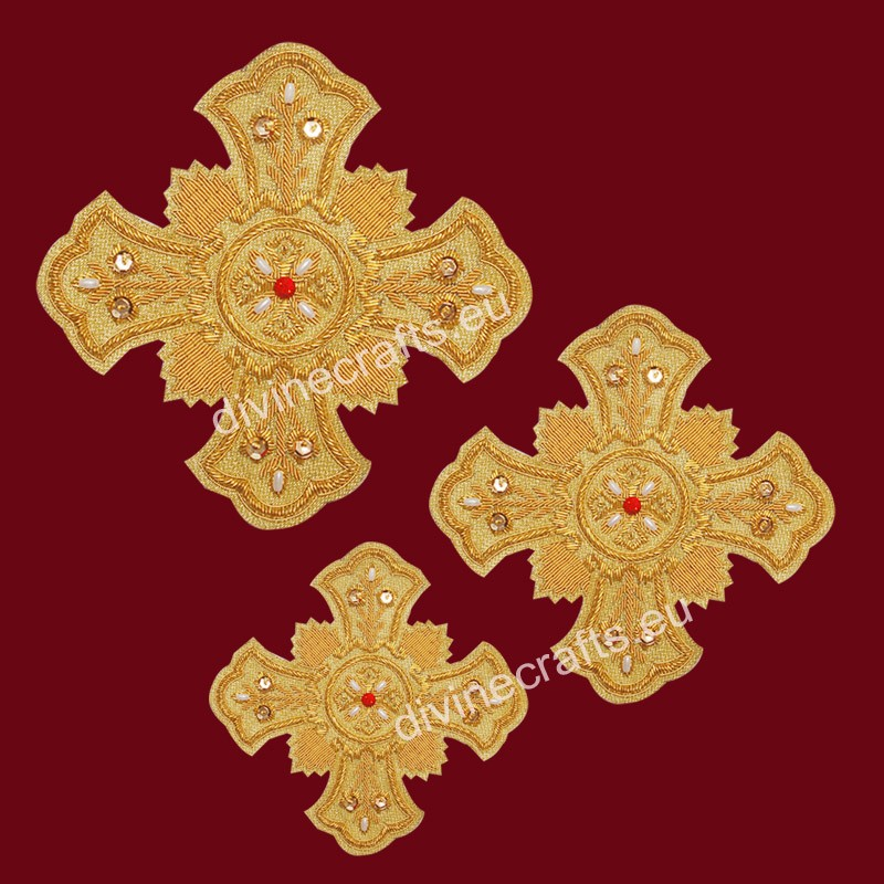 Orthodox Embroidered Handmade Cross Set