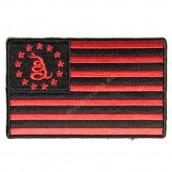 Gadsden American Flag Red Black Patch