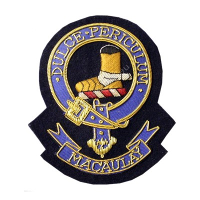 Macaulay Clan Crest Blazer Badge