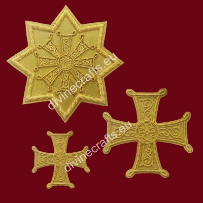 Orthodox Handmade Cross Set of Russian