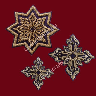 Gold bullion Embroidery patches
