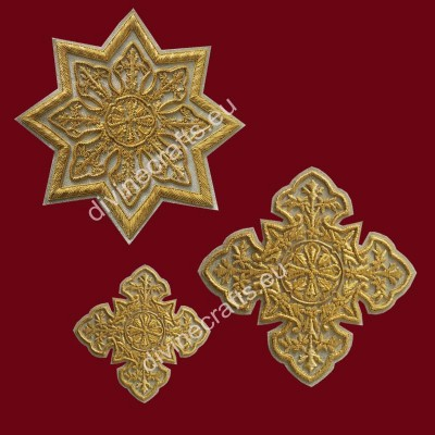 Silver Gold Embroidery Priest Cross Sets
