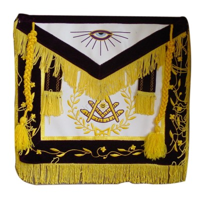Past Master Embroidered Apron