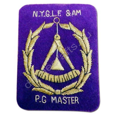 Master Vintage Masonic Patch Purple