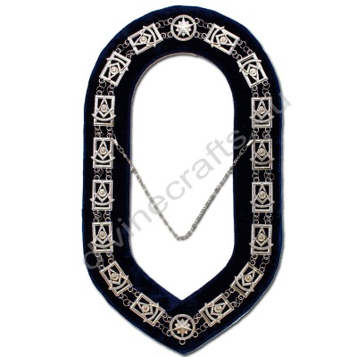Masonic Past Master Silver Metal Chain Collar
