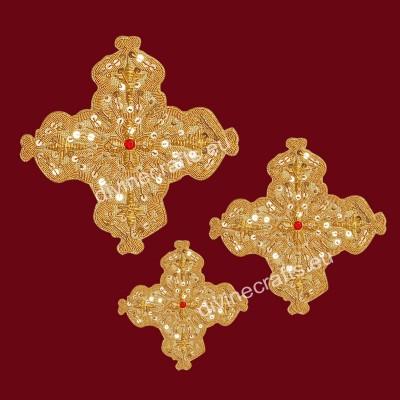 Embroidered Applique Vestment Crosses