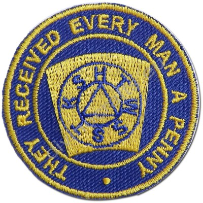 Masonic Mark Degree Embroidered Patch