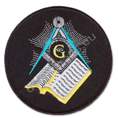 Masonic Crest Bible Embroidered Patch