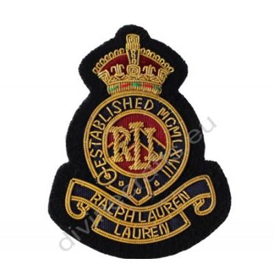 Bullion Wire Crown Badges