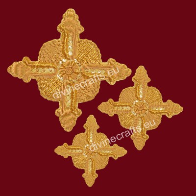 Elegant Applique Handmade Cross Set