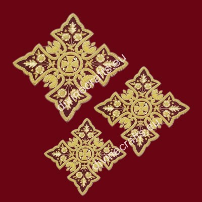 Maroon Liturgical Cross Set
