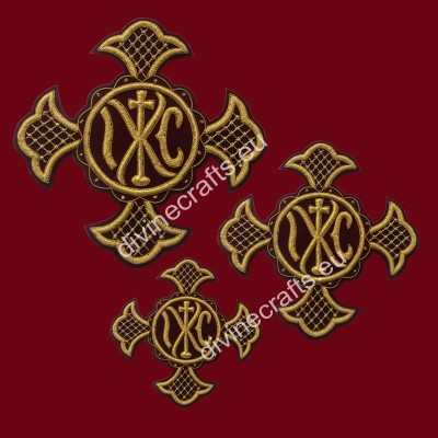 Claret gold cross set