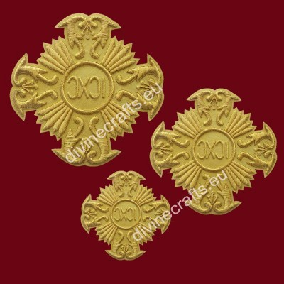 Russian style Gold Classical Cross Set