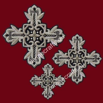 Silver black Cross set