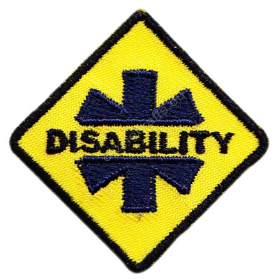 Disability Embroidered Patch