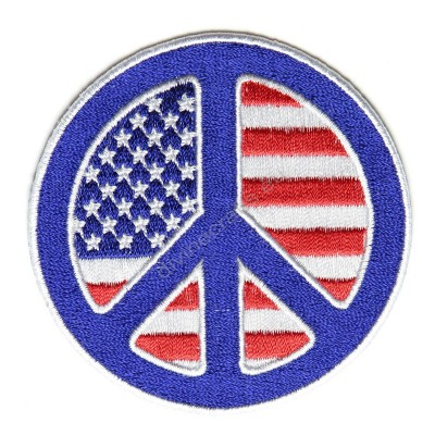 American Flag Peace Patch
