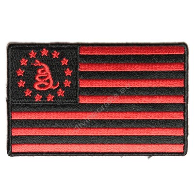 Gadsden American Flag Red Black Patch