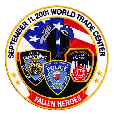 Fallen Heroes Police Embroidered Patch