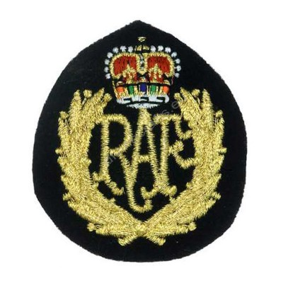 Gold Royal Embroidered Patch