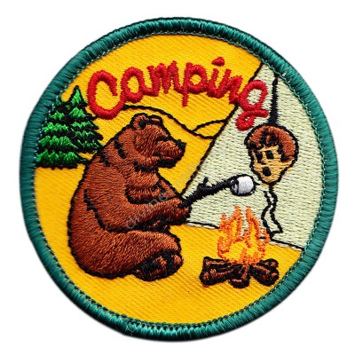 Camping Embroidered Patch