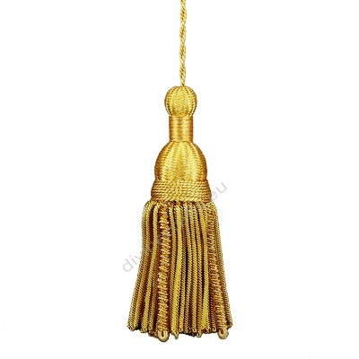 Glass Gold Beaded Tassel