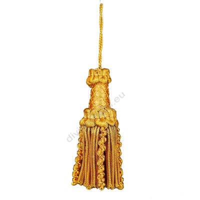 French Braided Tassel Metallic Gold