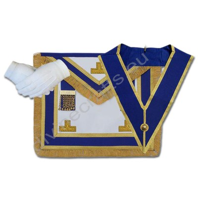 Masonic Craft Provincial Full Dress Apron and Collar with Glove